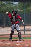 Arizona Diamondbacks catcher Zachery Almond (52) during an Extended Spring Training game against the Cleveland Indians at the Cleveland Indians Training Complex on May 27, 2018 in Goodyear, Arizona. (Zachary Lucy/Four Seam Images)