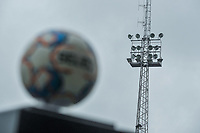 Light post of the Pierre Cornelis stadium pictured before a female soccer game between Eendracht Aalst and OHL on the 13 th matchday of the 2020 - 2021 season of Belgian Scooore Womens Super League , Saturday 6 th of February 2021  in Aalst , Belgium . PHOTO SPORTPIX.BE   SPP   STIJN AUDOOREN