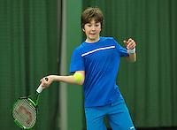 Rotterdam, The Netherlands, March 13, 2016,  TV Victoria, NOJK 12/16 years, Luka Novakovic (NED)<br /> Photo: Tennisimages/Henk Koster