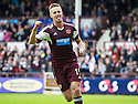Hearts' Billy King celebrates after he scores their fourth goal.