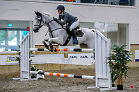 NZL-Summer Denize rides Limerick's Black Samba. Class 28: Trev Terry Marine Pony 1.15m-1.20m - FINAL. 2021 NZL-Easter Jumping Festival presented by McIntosh Global Equestrian and Equestrian Entries. NEC Taupo. Sunday 4 April. Copyright Photo: Libby Law Photography