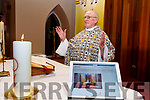 Fr Patsy Lynch has found a new audience in these COVID 19 times with his sermons finding ears and eyes in the UK, USA, and Europe, pictured here with a live streaming on Church Services TV.