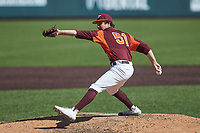 Virginia Tech Hokies relief pitcher Graham Firoved (51) in action against the Boston College Eagles at English Field on April 3, 2021 in Blacksburg, Virginia. (Brian Westerholt/Four Seam Images)