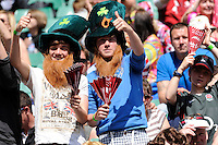 Young Irish fans enjoying the rugby and the sunshine during the iRB Marriott London Sevens at Twickenham on Sunday 13th May 2012 (Photo by Rob Munro)
