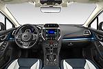 Stock photo of straight dashboard view of 2020 Subaru Crosstrek Hybrid 5 Door SUV Dashboard