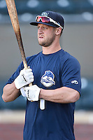 ***Temporary Unedited Reference File***Mobile BayBears Dan Rohlfing (13) during a game against the Jacksonville Suns on April 18, 2016 at The Baseball Grounds in Jacksonville, Florida.  Mobile defeated Jacksonville 11-6.  (Mike Janes/Four Seam Images)