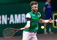 Rotterdam, The Netherlands, 3 march  2021, ABNAMRO World Tennis Tournament, Ahoy, First round doubles: Sander Giller (BEL) / Joran Vliegen (BEL).<br /> Photo: www.tennisimages.com/henkkoster