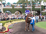 August 15, 2010.Spring Style, riden by Patrick Valenzuela,, in the Paddock before the John C. Mabee Stakes, at Del Mar Thoroghbred Club, Del Mar, CA