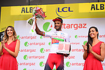 Natnael Berhane (ERI) Cofidis wins the day's combativity prize at the end of Stage 10 of the 2019 Tour de France running 217.5km from Saint-Flour to Albi, France. 15th July 2019.<br /> Picture: ASO/Pauline Ballet | Cyclefile<br /> All photos usage must carry mandatory copyright credit (© Cyclefile | ASO/Pauline Ballet)