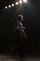 Die Hardcore Punkband Propagandhi aus Winipeg/Kanada spielte am Sonntag den 4. November 2018 im Berliner Club Astra.<br /> Im Bild: Gitarristin Sulynn Hago.<br /> 4.11.2018, Berlin<br /> Copyright: Christian-Ditsch.de<br /> [Inhaltsveraendernde Manipulation des Fotos nur nach ausdruecklicher Genehmigung des Fotografen. Vereinbarungen ueber Abtretung von Persoenlichkeitsrechten/Model Release der abgebildeten Person/Personen liegen nicht vor. NO MODEL RELEASE! Nur fuer Redaktionelle Zwecke. Don't publish without copyright Christian-Ditsch.de, Veroeffentlichung nur mit Fotografennennung, sowie gegen Honorar, MwSt. und Beleg. Konto: I N G - D i B a, IBAN DE58500105175400192269, BIC INGDDEFFXXX, Kontakt: post@christian-ditsch.de<br /> Bei der Bearbeitung der Dateiinformationen darf die Urheberkennzeichnung in den EXIF- und  IPTC-Daten nicht entfernt werden, diese sind in digitalen Medien nach §95c UrhG rechtlich geschuetzt. Der Urhebervermerk wird gemaess §13 UrhG verlangt.]