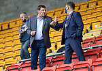 St Johnstone v Hibs……23.08.20   McDiarmid Park  SPFL<br />Fromer saints manager Tommy Wright pictured with Chairman Steve Brown<br />Picture by Graeme Hart.<br />Copyright Perthshire Picture Agency<br />Tel: 01738 623350  Mobile: 07990 594431