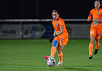 Rkia Mazrouai (2) of AA Gent pictured in action during a female soccer game between  Racing Genk Ladies and AA Gent Ladies on the eleventh matchday of the 2020 - 2021 season of Belgian Scooore Womens Super League , friday 22 th of January 2021  in Genk , Belgium . PHOTO SPORTPIX.BE   SPP   DAVID CATRY