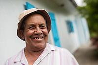 France, île de la Réunion, Parc national de La Réunion, classé Patrimoine Mondial de l'UNESCO, Cirque de CIlaos, Cilaos,   Armand Boyer , agriculteur  devant sa case //  France, Reunion island (French overseas department), Parc National de La Reunion (Reunion National Park), listed as World Heritage by UNESCO, cirque of Cilaos,  Cilaos, Armand Boyer ,  farmer in front of his box<br /> <br /> Auto n°: 2014-103