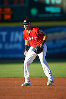 Erie SeaWolves first baseman Dominic Ficociello (25) during a game against the Richmond Flying Squirrels on August 22, 2016 at Jerry Uht Park in Erie, Pennsylvania.  Erie defeated Richmond 4-2.  (Mike Janes/Four Seam Images)
