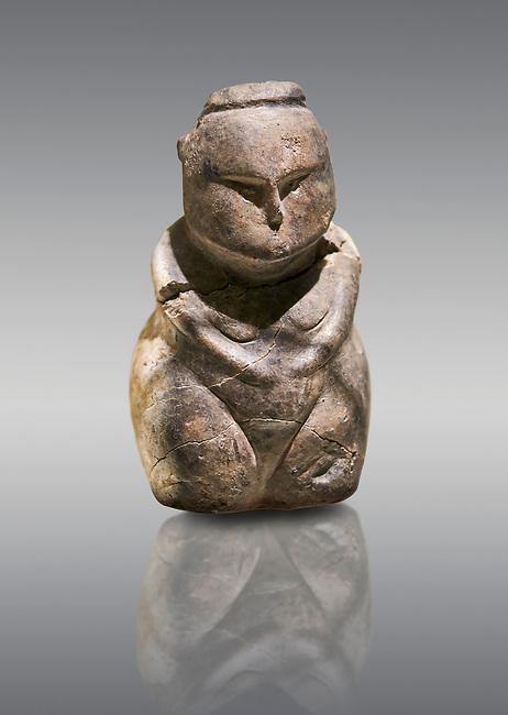 Styalised stone fiqurine. Catalhoyuk Collections. Museum of Anatolian Civilisations, Ankara