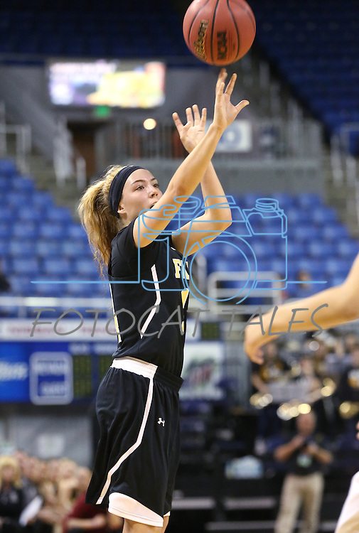 Faith Lutheran's Sam Caruth shoots a 3-pointer during the NIAA Division I-A state basketball championship game against Spring Valley in Reno, Nev. on Saturday, Feb. 27, 2016. Faith Lutheran won 50-47. Cathleen Allison/Las Vegas Review-Journal