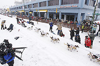 Aliy Zirkle Saturday, March 3, 2012  Ceremonial Start of Iditarod 2012 in Anchorage, Alaska.