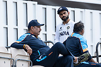 Virat Kohli, India with Ravi Shastri in the foreground during a training session ahead of the ICC World Test Championship Final at the Ageas Bowl on 17th June 2021