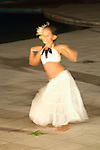 Pearl Resorts, Moorea, French Polynesia; Tahitian dancing performed during dinner at pool side..www.pearlresorts.com , Copyright © Matthew Meier, matthewmeierphoto.com All Rights Reserved