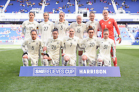 Harrison, NJ - Saturday, March 04, 2017: Germany Starting Eleven prior to a SheBelieves Cup match between the women's national teams of France (FRA) and Germany (GER) at Red Bull Arena.