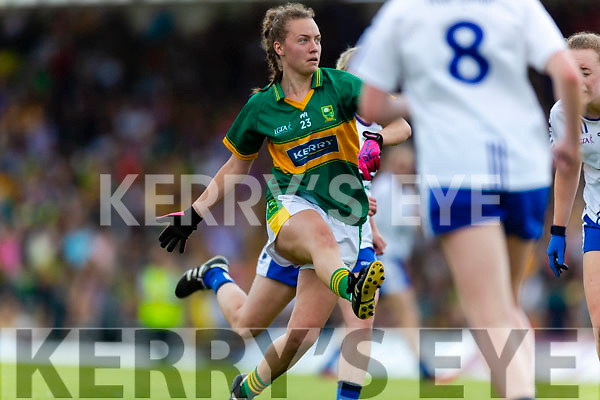 Aoife O'Callaghan Kerry in action against  Waterford in the TG4 Munster Senior Ladies Football Championship semi-final match between Kerry and Waterford at Fitzgerald Stadium in Killarney on Sunday.