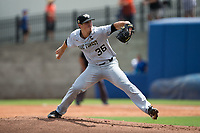 Wake Forest Demon Deacons starting pitcher Parker Dunshee (36) in action against the Florida Gators in Game One of the Gainesville Super Regional of the 2017 College World Series at Alfred McKethan Stadium at Perry Field on June 10, 2017 in Gainesville, Florida.  (Brian Westerholt/Four Seam Images)