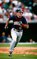 Paul Molitor of the Minnesota Twins plays in a baseball game at Edison International Field during the 1998 season in Anaheim, California. (Larry Goren/Four Seam Images)