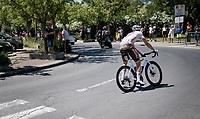 flat back tire for Oliver Naesen (BEL/AG2R Citroën) <br /> <br /> Stage 13 from Nîmes to Carcassonne (220km)<br /> 108th Tour de France 2021 (2.UWT)<br /> <br /> ©kramon