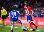 Filipe Luis of Atletico de Madrid (R) fights for the ball with Alvaro Odriozola Arzallus of Real Sociedad (L) during the La Liga 2017-18 match between Atletico de Madrid and Real Sociedad at Wanda Metropolitano on December 02 2017 in Madrid, Spain. Photo by Diego Gonzalez / Power Sport Images