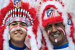 Supporters of Atletico de Madrid during their La Liga match between Atletico de Madrid and Granada CF at the Vicente Calderon Stadium on 15 October 2016 in Madrid, Spain. Photo by Diego Gonzalez Souto / Power Sport Images