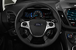 Car pictures of steering wheel view of a 2017 Ford C-Max Hybrid Titanium 5 Door Mini Van