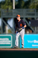 Detroit Tigers second baseman Kody Clemens (89) during a Grapefruit League Spring Training game against the Baltimore Orioles on March 3, 2019 at Ed Smith Stadium in Sarasota, Florida.  Baltimore defeated Detroit 7-5.  (Mike Janes/Four Seam Images)