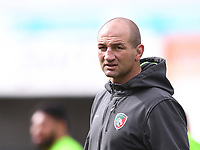 30th August 2020; Kingsholm Stadium, Gloucester, Gloucestershire, England; English Premiership Rugby, Gloucester versus Leicester Tigers; Steve Borthwick Head Coach for Leicester Tigers watches his team warms up