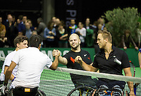 Februari 13, 2015, Netherlands, Rotterdam, Ahoy, ABN AMRO World Tennis Tournament, Stephane Houdet (FRA) / Gordon Reid (GBR) - Stefan Olsson (SWE) / Nicolas Peifer (FRA)<br /> Photo: Tennisimages/Henk Koster