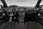 Stock photo of straight dashboard view of 2015 Peugeot 308 GT 5 Door Hatchback Dashboard