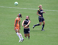 Sky Blue FC forward Natasha Kai battles LA Sol's Brittany Bock. The Sky Blue FC defeated the LA Sol 1-0 to win the WPS Final Championship match at Home Depot Center stadium in Carson, California on Saturday, August 22, 2009...