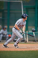 Detroit Tigers Josh Lester (70) bats during a minor league Spring Training game against the Atlanta Braves on March 25, 2017 at the ESPN Wide World of Sports Complex in Orlando, Florida.  (Mike Janes/Four Seam Images)