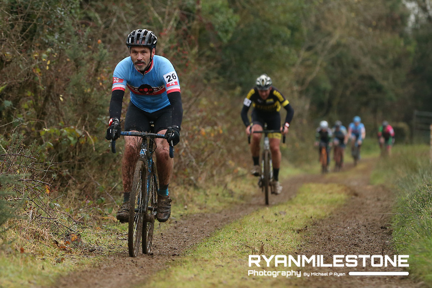 EVENT:<br /> Round 5 of the 2019 Munster CX League<br /> Drombane Cross<br /> Sunday 1st December 2019,<br /> Drombane, Co Tipperary<br /> <br /> CAPTION:<br /> David Scannell of De Ronde Van Cork CC in action during the A Race - M40<br /> <br /> Photo By: Michael P Ryan