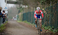 race leader Lars Van der Haar (NLD/Giant-Shimano)<br /> <br /> Zolder CX UCI World Cup 2014