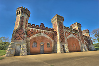 The facade of the old bear pits still guards the Fairgrounds Park's main entrance like a medieval castle and as a reminder of the glory days of the popular St. Louis Fair.