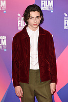 """Timothee Chalamet<br /> at the London Film Festival 2017 photocall for the film """"Call Me by Your Name"""" at the Mayfair Hotel, London<br /> <br /> <br /> ©Ash Knotek  D3326  09/10/2017"""