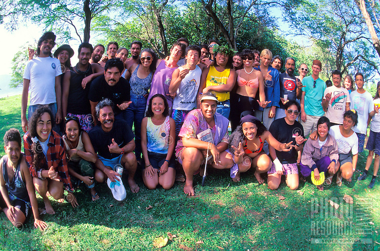 The Kahoolawe access group whose mission is to revitalize the cultural and natural resources on the island.