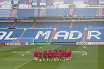 Jan Oblak, Diego Godin, Filipe Luis ,Koke Resurrecccion, Saul Iniguez ,Fernando Torres, Yannick Ferreira Carrasco, Antoine Griezmann, Angel Correa ,Gabi Fernandez ,Kevin Gameiro of Atletico de Madrid during the training before the match of Champions League between Real Madrid and Atletico de Madrid at Santiago Bernabeu Stadium  in Madrid, Spain. May 01, 2017. (ALTERPHOTOS/Rodrigo Jimenez)