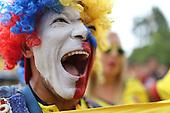 Hinchas de Colombia antes del partido de eliminatorias para el Mundial de Fútbol 2018 contra Venezuela en el Estadio Metropolitano Roberto Melendez de Barranquilla el 1 de septiembre de 2016.<br /> <br /> Foto: Joaquin Sarmiento/Archivolatino<br /> <br /> COPYRIGHT: Archivolatino<br /> Prohibido su uso sin autorización.
