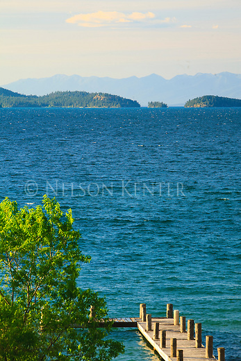 Flathead Lake in western Montana
