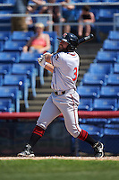 Richmond Flying Squirrels left fielder Tyler Horan (31) at bat during a game against the Binghamton Mets on June 26, 2016 at NYSEG Stadium in Binghamton, New York.  Binghamton defeated Richmond 7-2.  (Mike Janes/Four Seam Images)