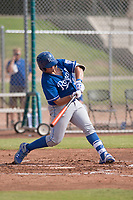 Kansas City Royals catcher Chase Vallot (3) at bat during an Instructional League game against the San Francisco Giants at the Giants Training Complex on October 17, 2017 in Scottsdale, Arizona. (Zachary Lucy/Four Seam Images)