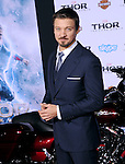 Hollywood, CA - NOVEMBER 04: Jeremy Renner  arrives to Marvel's  THOR: THE DARK WORLD Premiere held at El Capitan Theatre in Hollywood, California on November 04,2012                                                                               © 2013 Hollywood Press Agency