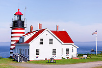 West Quoddy Head Lighthouse decorated for Independence Day