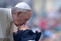 Pope Francis during of a weekly general audience at St Peter's square in Vatican.October 18, 2017